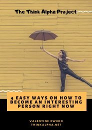 4 Easy Ways On How To Become An Interesting Person Right Now