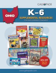 Ohio K–6 Supplemental Resources For Ohio Learning Standards