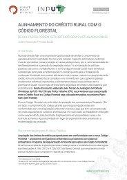 Alinhamento do Crédito Rural com o Código Florestal