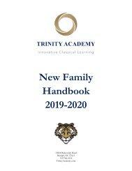 New Family Handbook 2019-20