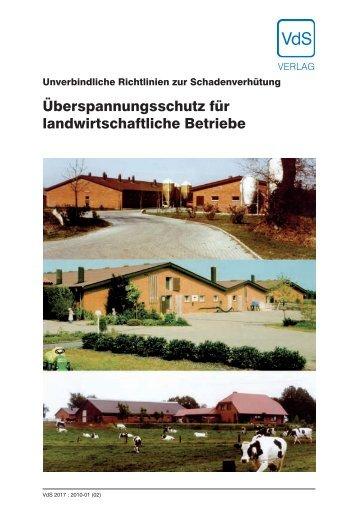 Überspannungsschutz für landwirtschaftliche Betriebe (VdS 2017)