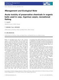 Acute toxicity of preservative chemicals in organic baits used in carp ...