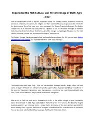 Best Luxury Delhi-Agra-Jaipur Tour Package - Travkart