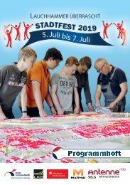 Programmheft Stadtfest Lauchhammer 2019
