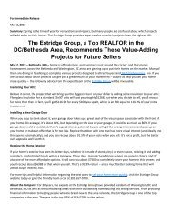 The Estridge Group, a Top REALTOR in the DC/Bethesda Area, Recommends These Value-Adding Projects for Future Sellers