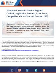 Wearable Electronics Market Analysis, Growth Drivers, Vendors Landscape, Shares, Trends, Industry Challenges with Forecast to 2025