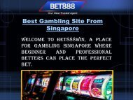 Best Gambling Site From Singapore