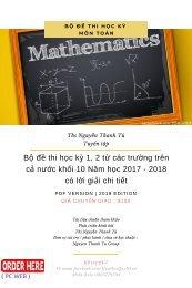 Bộ đề thi học kỳ 1, 2 từ các trường trên cả nước khối 10 Năm học 2017 - 2018 có lời giải chi tiết