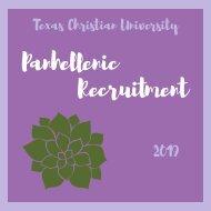 TCU Panhellenic Summer Recruitment Booklet 2019