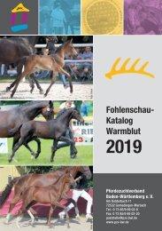 Fohlenschaukatalog Warmblut 2019 I Pferdezuchtverband Baden-Württemberg