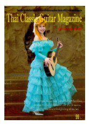 Thai Classical Guitar magazine article dedicated to Galina Vale