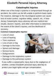 Elizabeth Personal Injury Attorney