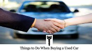 Things to Do When Buying a Used Car