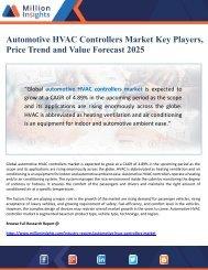 Automotive HVAC Controllers Market Value Forecast 2025