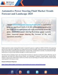 Automotive Power Steering Fluid Market Landscape 2025