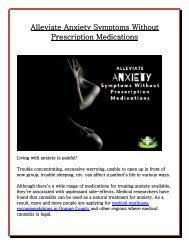 Alleviate Anxiety Symptoms Without Prescription Medications