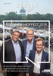 Berlin to go, Sonderausgabe Berliner Hoffest 2019