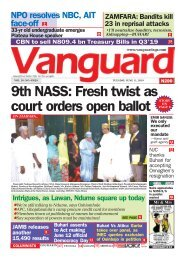 11062019 - 9th NASS: Fresh twist as court orders open ballot