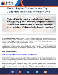 Medical Implant Market Outlook, Top Competitor Profiles and Forecast to 2022