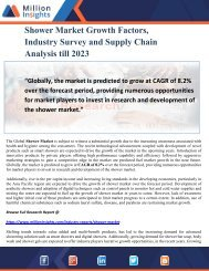 Shower Market Growth Factors, Industry Survey and Supply Chain Analysis till 2023