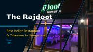 The Rajdoot - Best Indian Restaurant & Takeaway in Hampstead, London