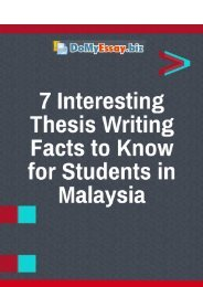 7 Interesting Thesis Writing Facts to Know for Students in Malaysia