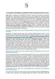 Rapporto Commissione EAT Lancet