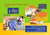 Montessori Children's House - Prospectus 2019