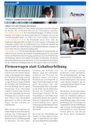 Firmenwagen statt Gehaltserhöhung - Athlon Car Lease Germany ...