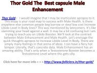 Thor Gold The  Best capsule Male Enhancement