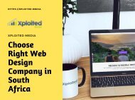 Choose Right Web Design Company in South Africa