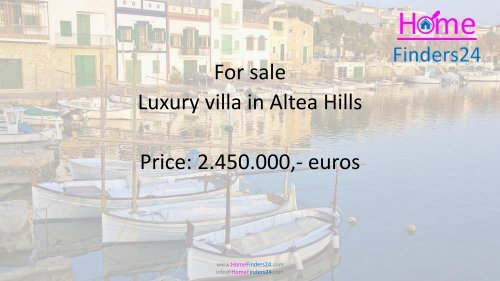 Stylish villa for sale in Altea Hills with pool and sea views. (VIL0006)
