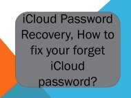 iCloud Password Recovery, How to fix your forget iCloud password?
