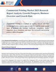 Commercial Printing Market Growth, Market Share, Demand, Research, Sales, Trends, Supply, and Forecast from 2025