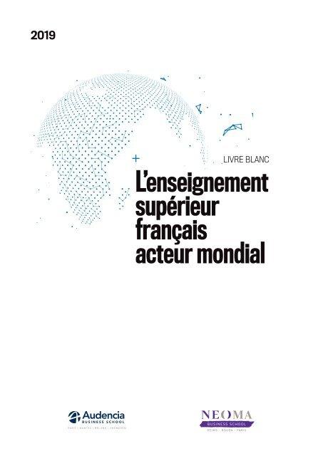 LIVRE BLANC 2019_ L'enseignement supérieur français acteur mondial
