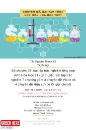 Bộ chuyên đề, bài tập trắc nghiệm tổng hợp môn Hóa Học 11 (Lý thuyết, Bài tập trắc nghiệm 7 chương gồm 3 chuyên đề Vô cơ và 4 chuyên đề Hữu cơ) có lời giải chi tiết