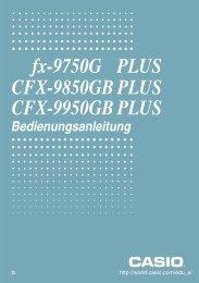 fx-9750G PLUS CFX-9850GB PLUS CFX-9950GB PLUS