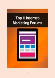 Top 11 Internet Marketing Forums
