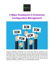 4 Major Drawbacks in Enterprise Configuration Management