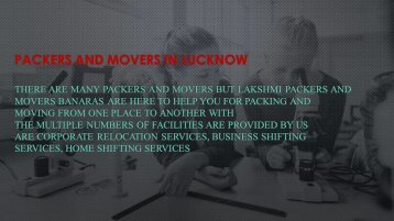 packers and movers in Lucknow