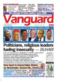 13062019 - Politicians, religious leaders fueling insecurity — BUHARI