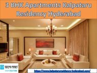 Book now 3 BHK residential apartments Kalpataru Residency Hyderabad