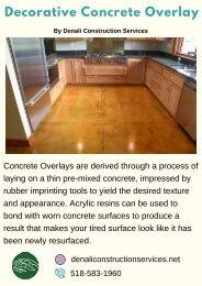 Decorative Concrete Overlay