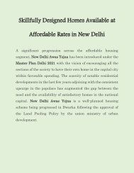 Skillfully Designed Homes Available at Affordable Rates in New Delhi