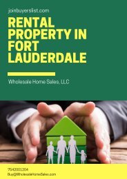 Fort Lauderdale, FL Apartments property for Rent -JoinBuyersList