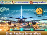 Rent Air Ambulance in Patna with Whole Life-Saving Tool