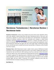 Nerotenze Testosterone | Nerotenze Review | Nerotenze testo