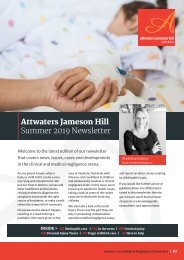 Attwaters - Medical Negligence newsletter