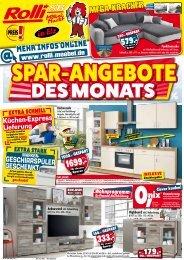 Spar-Angebote des Monats! Rolli  SBMöbelmarkt, 65604 Elz/Limburg