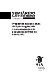 Frente Parlamentar - Propostas da sociedade civil para a garantia do acesso à água às populações rurais do Semiárido